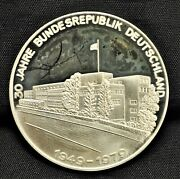 Federal Republic Of Germany 30th Ann. - Sterling Silver Commemorative Medal