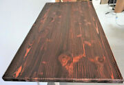 Table Top,rustic Reclaimed Wood Dining Table Top 48x 24x 1.5 Mahogany Colors