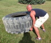 1 Used Workout Tire Cross-fit 13.00-24 125 Lbs. Free Shipping