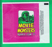 1967 Topps Movie Monsters- Terror Tales 5 Cents  Wax Wrapper Nm/mt-mint
