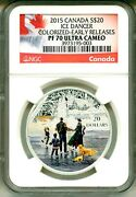 2015 Canada S20 Ice Dancer Colorized Er Ngc Pf70 Ultra Cameo Mint Box And Coa Ogp