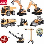 Huina 2.4g Rc Alloy Crane Excavator Dumping Engineering Truck Rtr Car Toys Gift