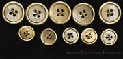 Vintage 14k Gold Buttons 10 Total 5 15mm And 5 20mm Cross Hatch Design Well Made