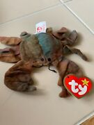 Teenie Claude The Crab Beanie Baby Used. Never Played With 1993 Ty
