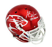 Andre Ware Signed Houston Cougars Schutt Authentic Chrome Helmet - And03989 Heisman