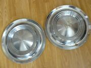 1956 Desoto Hubcaps, 2 Only.  Very Nice, Minor Dents And Little Scuffs.