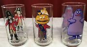 Collector Series,used, Mcdonalds, Captain Crook, Mayor Mccheese, Grimace Glasses