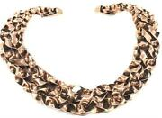 Taxco Mexican Textured Ribbon Motif Copper Choker Necklace Mexico