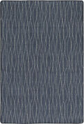 Milliken Blue Waves Rows Banded Contemporary Area Rug Geometric Flow Ii Comet