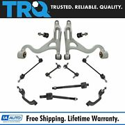 Trq 12 Pc Steering And Suspension Kit Control Arms Tie Rods Sway Bar End Links New