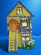 Dept 56 Snow Village Knob Hill Extremely Rare Yellow Color 5055-9 Excellent