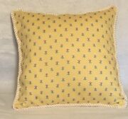 Fresh Farm French Country Cottage Floral Yellow Ivory White Pillow Rose Green
