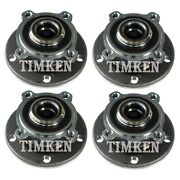 Front And Rear Wheel Bearings And Hubs Kit Timken For Cooper Countryman Paceman Awd