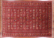 5' 7 X 7' 10 Gabbeh Hand Knotted Wool Rug - Q2951