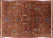 5' 7 X 7' 9 Tribal Gabbeh Hand Knotted Wool Area Rug - Q3113