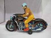 Vintage Modern Toys Motorcycle Rider Tin Battery-operated Toy, 388-e