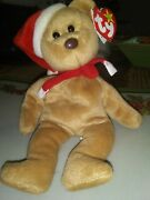 Rare Beanie Babygood Conditionbrown Nose Holiday Bear Collectible Has Tag