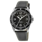 New Bell And Ross Br V2-92 Black Dial Steel Case Menand039s Watch Brv292-bl-st/sca