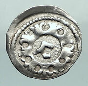 1250 Hungary Medieval Silver Coin Of Bela Iv With Jewish Hebrew Letter I80419