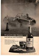 1959 Walkers Deluxe Bourbon Whiskey 8 Year Old Crackers Cheese Race Car Print Ad