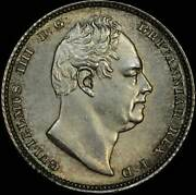 1831 Silver Sixpence William Iv S3836 Choice Unc Pcgs Ms63