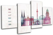 Berlin Germany Abstract Grunge City Multi Canvas Wall Art Picture Print
