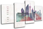 Las Vegas Nevada Abstract Grunge City Multi Canvas Wall Art Picture Print