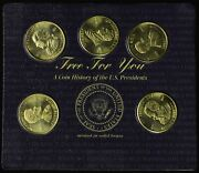 A History Of The United States President Minted In Solid Brass Sealed