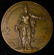 Berlin Germany 1901 Fire Exposition And Protection Bronze Medal 50mm Rare