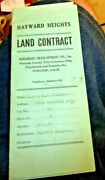 Vintage Land Contract Hayward Heights 2353 Waverly Ave Oakland Ca 1926 Pinkham