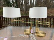 Swing Arm Polished Brass Gold Table Desk Accent Home Office Lamp