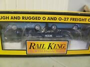 O Scale-rail King-lot No.10- Mth Auto Transport / Ertl 64and039 Mustangs - In Box