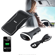 Car Wireless Bluetooth Handsfree Speaker Cell Phone Sunshade Clip Phone Charger