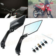 Carbon Fiber Motorcycle Rearview Side Mirrors For Honda Suzuki Chopper 8mm 10mm