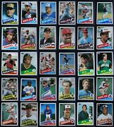 1985 Topps Traded Baseball Cards U You Pick Complete Your Set 1t-132t