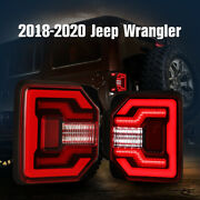 Tail Lights For 18-20 Jeep Wrangler Jl Jlu Dynamic Led Sequential Turning Signal