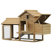 59 Wooden Outdoor Hen House Small Animal Livestock Cage Enclosure With Run