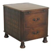 L47930ec Theodore Alexander Leather Faux Books 2 Drawer Mahogany Table Or Chest