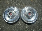 Lot Of 2 Factory 1965 1966 Ford Falcon Fairlane Deluxe Hubcaps Wheel Covers