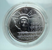 1986 France Gifts Statue Of Liberty To Us Huge Genuine Silver French Coin I80709