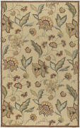 9x12 Surya Hooked Beige Outdoor Leaf 1011 Area Rug - Approx 9' X 12'