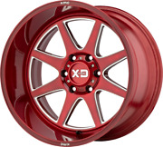 20x10 Red Rims Xd844 Pike 1994-2021 Lifted Dodge Ram 2500 3500 Truck 8x6.5 -18mm