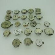 Lot Of 23 Vintage Swiss And U.s.a. Omega, Longines And More Mechanical Movements