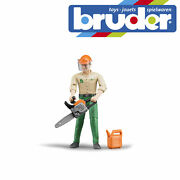 Bruder Forestry Worker With Accessories Kids Childrens Toy Model Figure