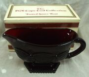 1988 Avon Ruby Red 1876 Cape Cod Glass Collection Footed Sauce Gravy Boat