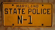 Maryland State Police Commander License Plate - Low 1