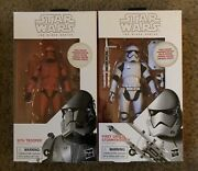 Star Wars Black Series Sith Trooper And First Order Storm Trooper Figures White