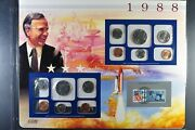 1988 Pandd Uncirculated Mint Set - Postal Commemorative Society - Coin And Stamp