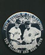 Babe Ruth And Ted Williams Meeting Of Two Champions 3 Pin 2053