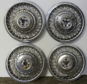 Oem 15 Wire Type Hub Caps Wheel Covers 25558104 1991-93 Cadillac Deville W37